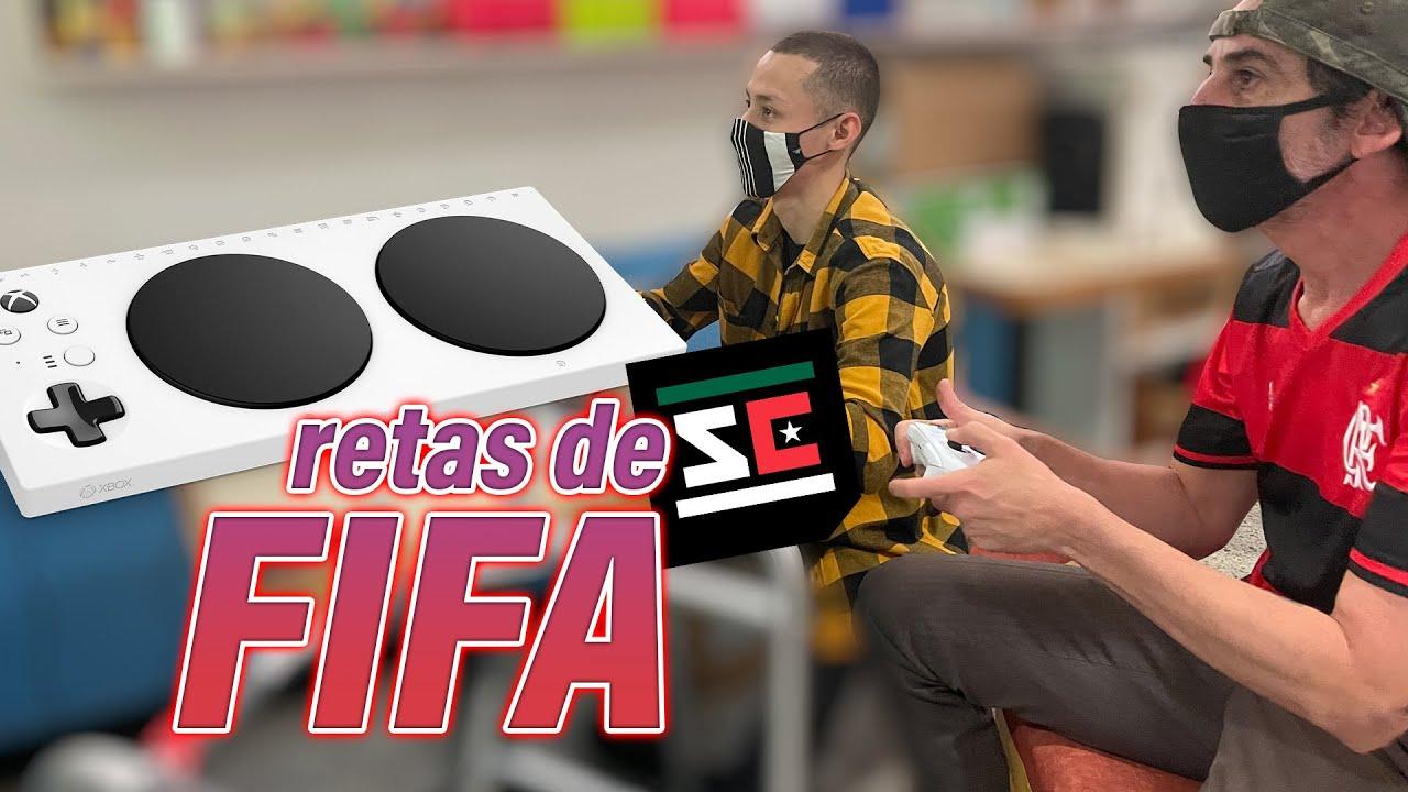 Jugando FIFA con el Control Adaptativo de Xbox.