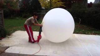 Blowing Up A 8 Foot Balloon