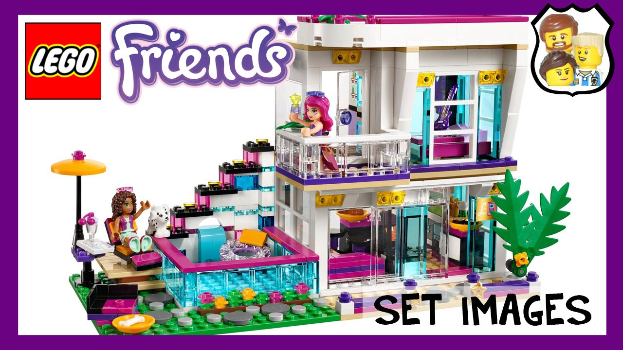 Lego Friends Livis Pop Star House Youtube