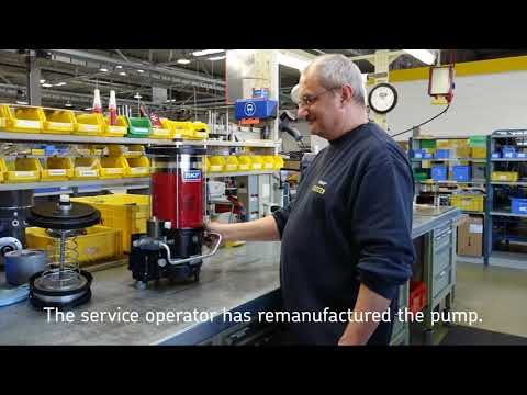 SKF lubrication remanufacturing service