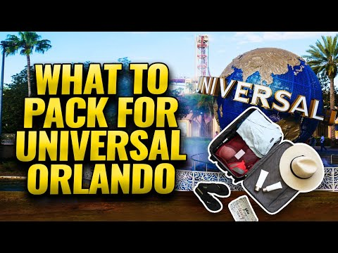 WHAT TO BRING TO UNIVERSAL (What To Pack For Universal Studios Orlando)