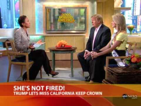 Donald trump And Miss California at GMA
