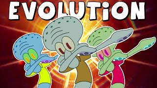 The Evolution of Squidward's Dab