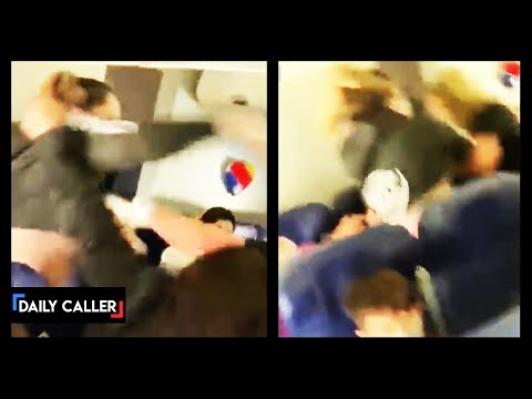 Passenger Caught On Camera Fighting Flight Attendant