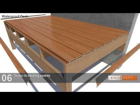 Knotwood Interlocking Aluminium Decking Youtube