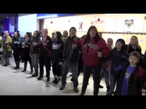 Idle No More - Round Dance Flash Mob at WEM in Edmonton
