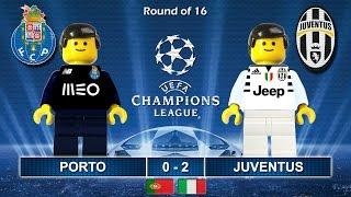 PORTO vs JUVENTUS 0-2 • Champions League 2017 22/02/2017 ( Film Lego Football Highlights ) Juve