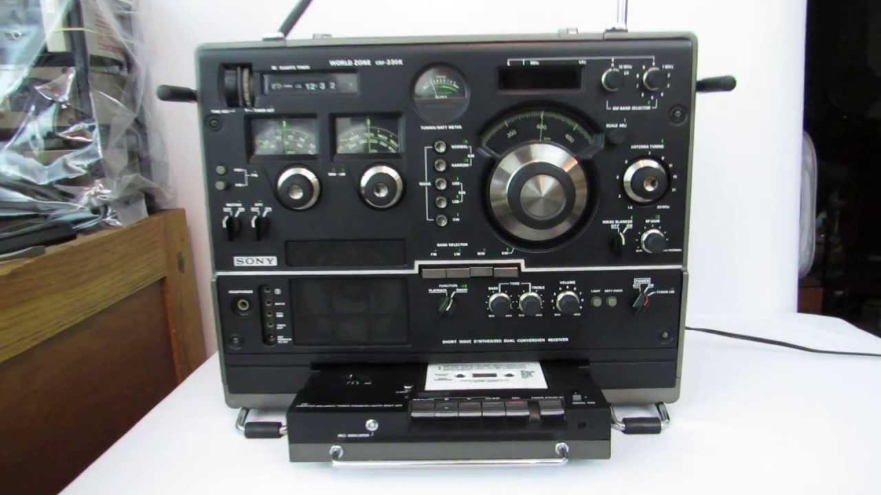 Sony Crf-330k Shortwave Am Fm Radio Receiver