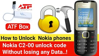 How to unlock Nokia mobile Without losing Data - (C2-00) (ATF) | ZM Lab