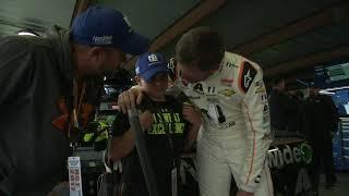 Trending: Earnhardt Jr. Comforts Fan In Garage