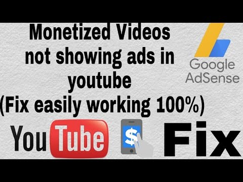 Monetized Videos not showing ads in youtube ( Fix Easily working 100%)