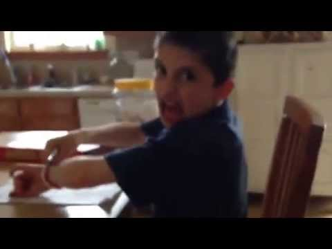 Kid rages over homework