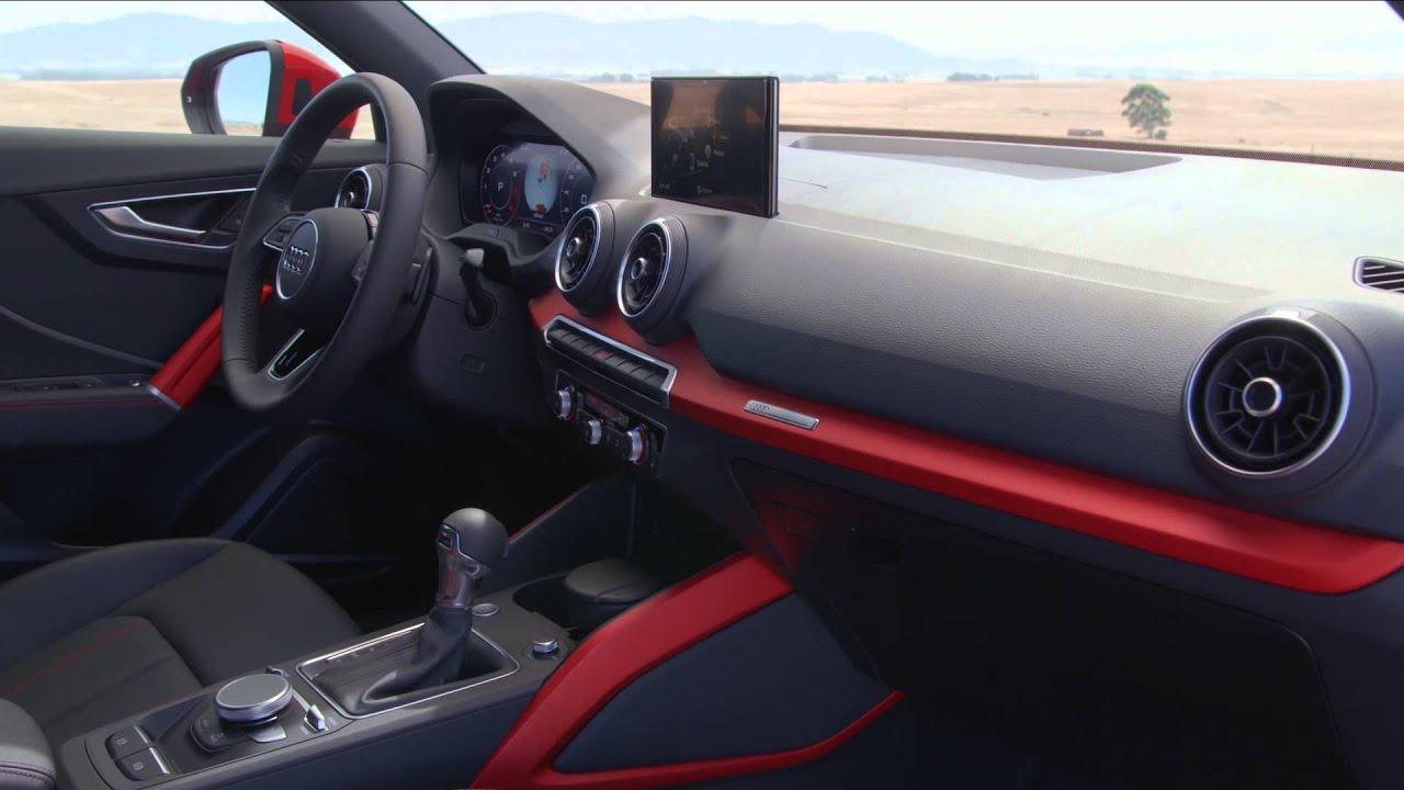 2016 audi q2 interior design in tango red automototv. Black Bedroom Furniture Sets. Home Design Ideas