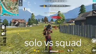 SOLO VS SQUAD  IN RANK MATCH //FREE FIRE BATTEL GROUND//BOOYAH WITH 11 KILLS//