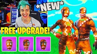 Streamers React To *FREE* Christmas Skin Upgrades! (NEW STYLES) - Fortnite FUNNY Moments