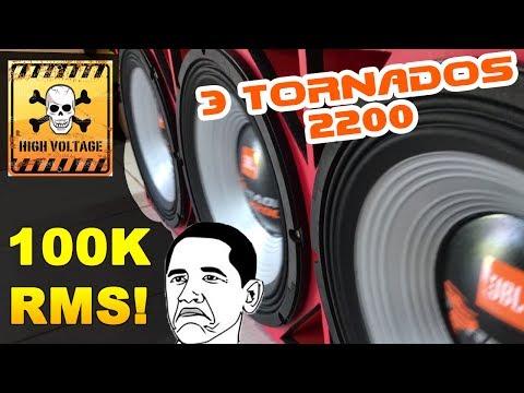 3 Tornado 2200 Na Full Trap + SD 100 000 RMS GRAVE ABSURDO!