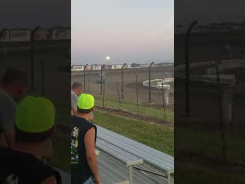 "I-80 Speedway Silver Dollar Nationals~IMCA MRT 19SB ""Smokey"" Heat #4~7/18/19"