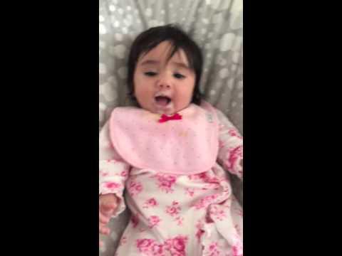 Baby Gal love oatmeal- Happy dance thumbnail