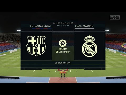 Fifa 20 Barcelona Vs Real Madrid Xbox One / PS4 Full Match Gameplay In HD