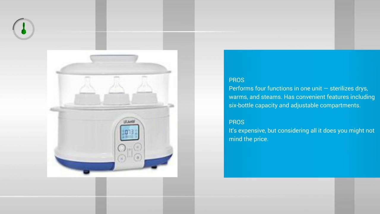 Lil Jumbl 4-in-1 Bottle Sterilizer Warmer /& Dryer w//Food Steamer Function Digital LCD Display with Custom Heat Settings