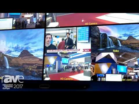 ISE 2017: InFocus Demos the ConX Exec Video Conferencing and Collaboration Video Wall System