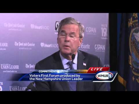 Voters First Forum: Jeb Bush on education reform, being a Bush, message to voters