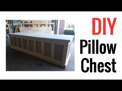 DIY Pillow Chest - Step by Step Furniture Build