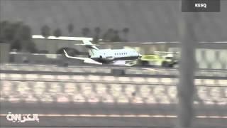 هبوط اضطراري خطير لطائرة «بدون عجلات» بعد فشل فتحها (فيديو)