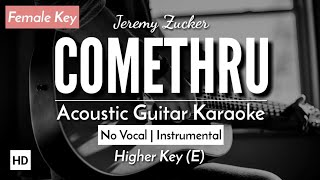 [KARAOKE] Comethru (Female Key) - Jeremy Zucker [Gitar Akustik + Lirik]