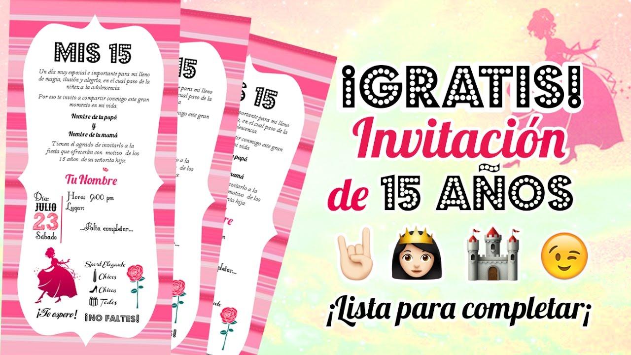 15 Years Invitation Card Free Download Milusska U Milusska Y Anna