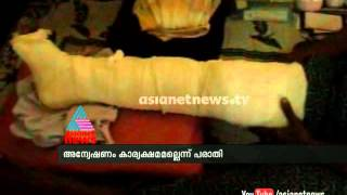 Vishalakshi from Kunnamkulam hit by car, severely injured:Police inactive