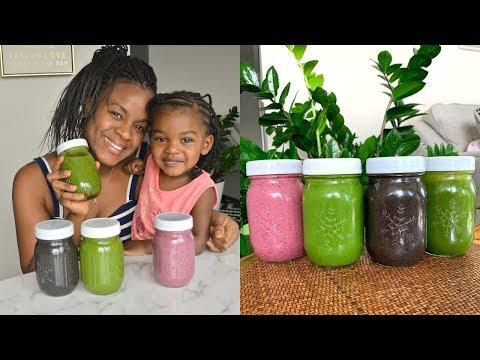 4 Smoothies I Drink Each Week | Easy & Raw Vegan Recipes