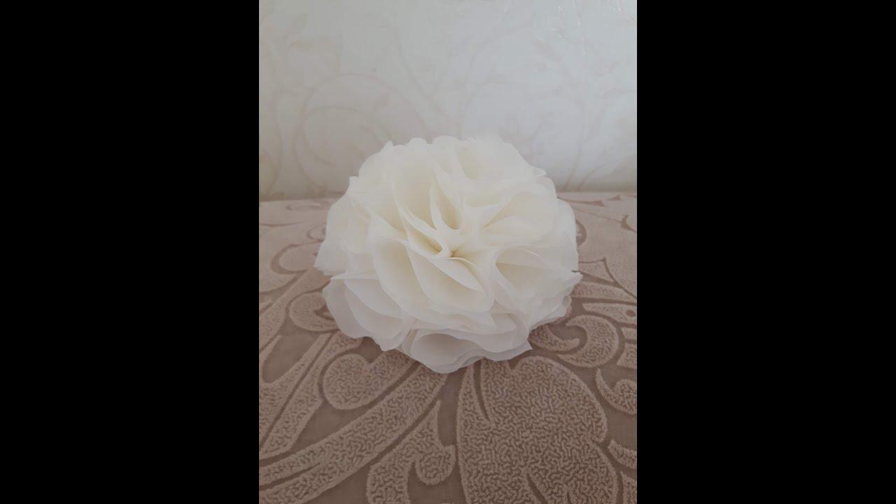 Белые цветочки своими руками