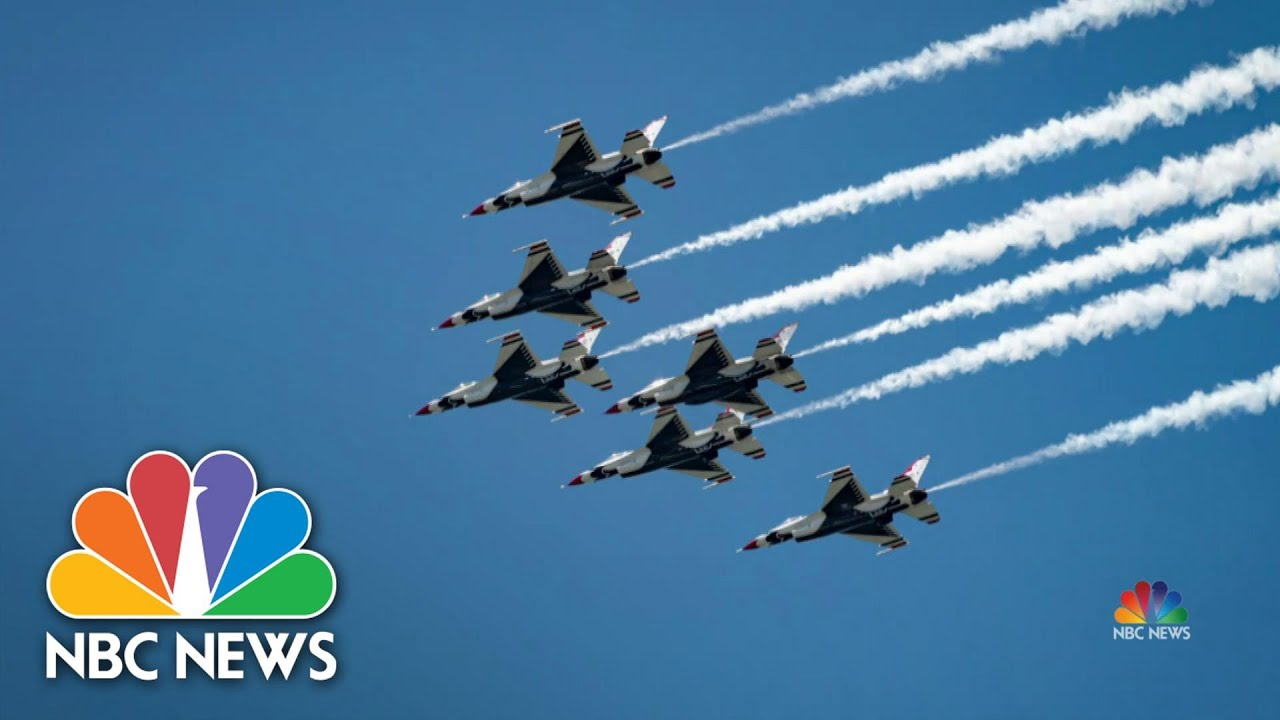 Blue Angels fly over New Orleans saluting healthcare workers