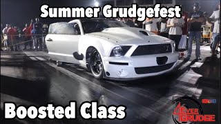 Summer Grudge Fest Boosted Class Coverage At Steele International Dragway.