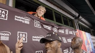 Logan Paul Interrupts KSI Interview To Trash Talk Him