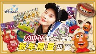 2019 東京迪士尼海洋開箱!新年限定扭蛋!失心瘋亂買?|  Tokyo DisneySea | 日本東京開箱#1