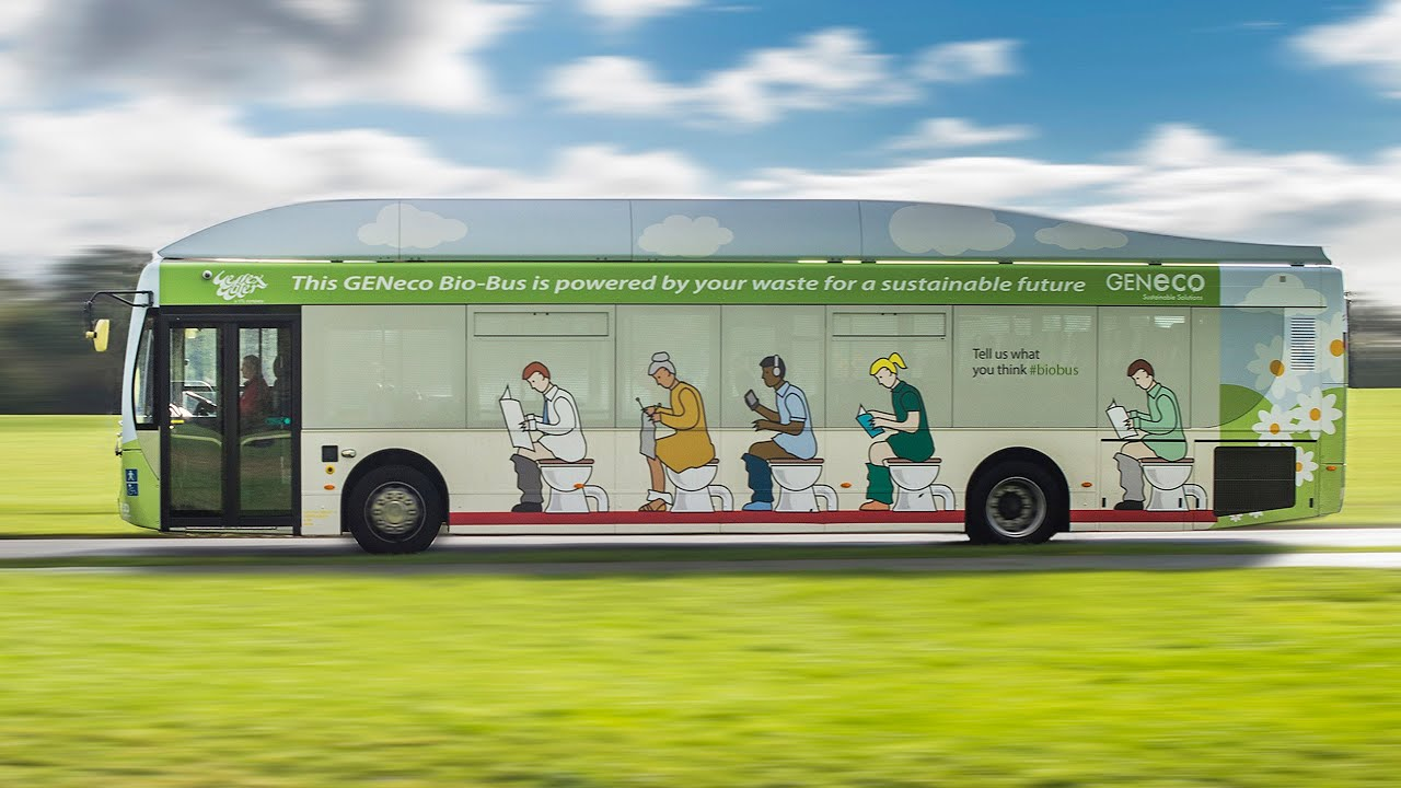 BioBus – The UK\'s first food and poo-powered bus - YouTube