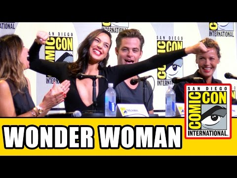 WONDER WOMAN Comic Con Panel Highlights - Gal Gadot, Chris Pine, Connie Nielsen, Patty Jenkins