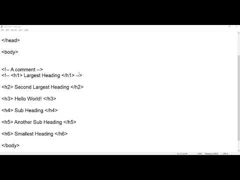 1. Intro And Structure   HTML Tutorial   HTML For Beginners   Learn Html
