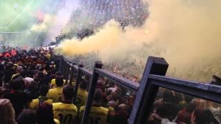 Schalke vs. Dortmund 1:3  Pyro Hooligans  Ultras HD