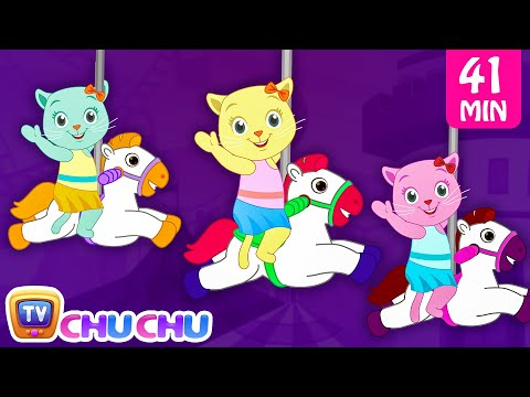 Thumbnail: Three Little Kittens Went To The Theme Park - Nursery Rhymes by Cutians | ChuChu TV Kids Songs