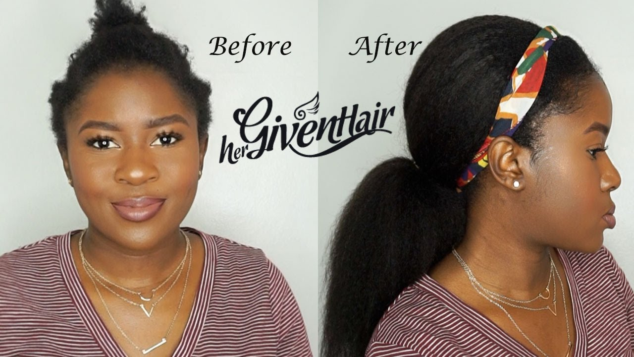 how to protective style using clipins how to do a low