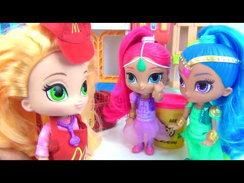 Nick Jr. SHIMMER SHINE Work Mcdonald's Drive Thru Cashier Cash Register, Leah Happy Meal Toy / TUYC