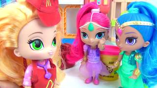 Nick Jr. SHIMMER SHINE Work Mcdonald's Drive ...