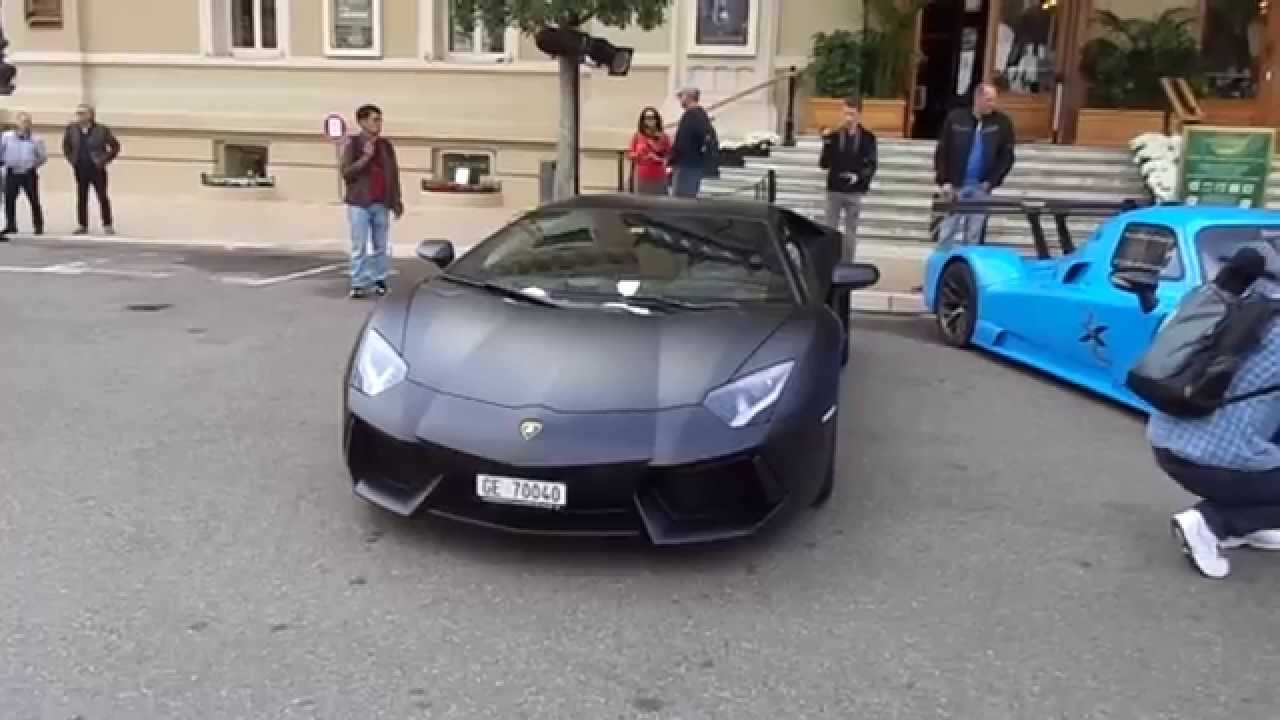 lamborghini aventador noir mat top marques monaco 2015 youtube. Black Bedroom Furniture Sets. Home Design Ideas