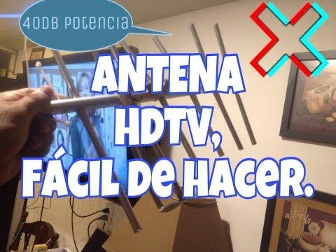 🔴ANTENA HDTV DE LARGO ALCANCE, TELEVISION GRATIS, TUTORIAL.