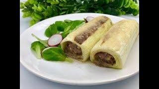 Фаршированный лук-порей | Блюдо из порея с фаршем и грибами