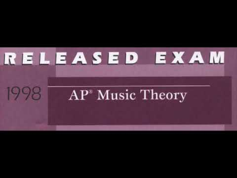 1998 AP Music Theory Released Exam, Section I Part A