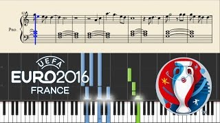 UEFA EURO 2016: This One's For You (David Guetta & Zara Larsson) - EASY Piano Tutorial + Sheets